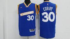 Kids Golden State Warriors #30 Stephen Curry Blue Swingman adidas Baseketball Jersey