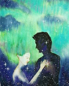 Twin Flames art by Nicola An Flame Art, Creative Words, Watercolor Art, Artsy, Twin Flames, Art Prints, Gallery, Drawings, Poems