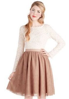 Jupon en tulle : Turning in Tulle Skirt in Dusty Rose #ModCloth 50% off