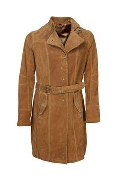 Leather Trenchcoat suède!
