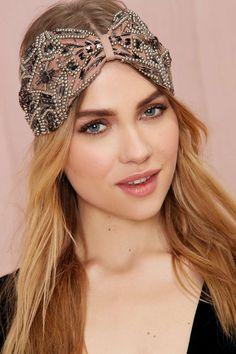 at nasty gal Eliza Beaded Headband