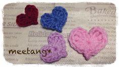 heart motif 簡単なハートモチーフの編み方&ニット帽の大人サイズの増し目について