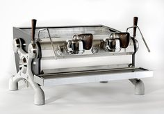 The amazing manual paddle, Slayer coffee machine! I would go with 3 group machine over the 2 group though. Such a beautiful machine!