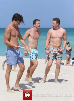 Patrick Schwarzenegger enjoys a day at the beach with friends Patrick Schwarzenegger, Beach Friends, Celebrity Photos, Models, Guys, Celebrities, Swimwear, Templates, Bathing Suits