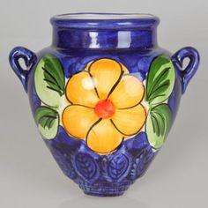 ceramic vase, flowers, handmade orza de pared estampado flores, artesanía, alfarería