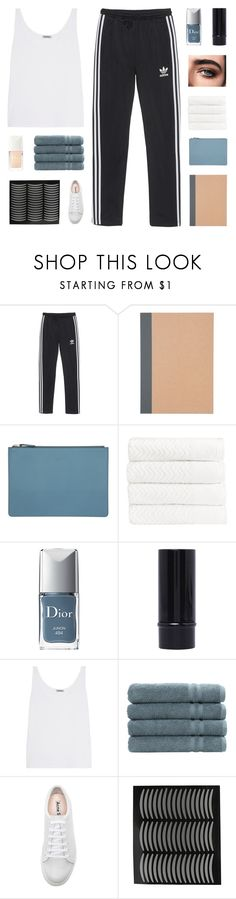 """""""- they say you're basic, they say you're easy, you're always riding in the backseat"""" by p-ureness ❤ liked on Polyvore featuring adidas Originals, CÉLINE, Christy, Christian Dior, Totême, Linum Home Textiles and Acne Studios"""