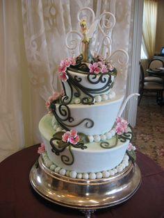 Tinkerbell wedding cake at Franck's Studio Walt Disney World.