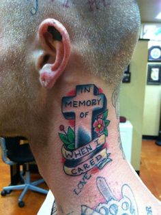 In memory of when I cared tattoo