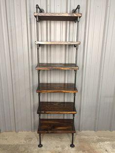 Tiefe Regal Bücherregal  Holz  Medien Regal  von IndustrialEnvy