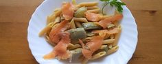 Pennette con salmone e carciofi | Ricette Facili e Veloci, Leggere