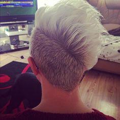 Back of my hair! #roots #undercut #white - @Kim O'Rourke Lopez Nguyen Noble- #webstagram