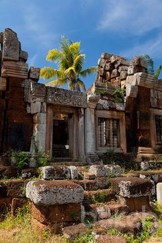 Khmer temple Phnom Chisor | Takeo Province, Cambodia