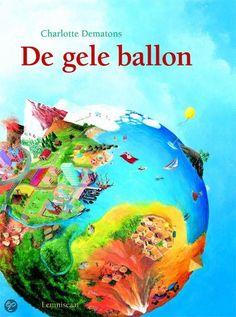 De gele ballon van Charlotte Dematons- Let op: met dikke kartonnen pagina's! Kan hij hem zelf lezen :) € 18,95