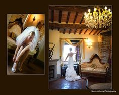 Villa San Crispolto, the preparation of the  bride in the wedding suite