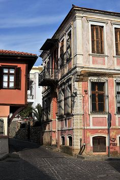 Xanthi (Greek: Ξάνθη) is a city in Thrace, northeastern Greece. It is the capital of the Xanthi regional unit of the region of East Macedonia and Thrace. [Here: The old city]
