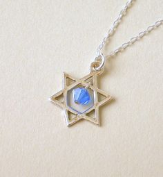 Star of David necklace sterling silver Star of David by Mindielee