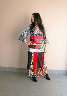 LEL-handmade / lel,hippie maxišaty letné Hippie Style, Hippie Boho, New Look, Kimono Top, Dresses With Sleeves, Long Sleeve, Handmade, Tops, Women