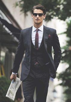 Three pieces suit #vest #suit #manlook #menfashion #classcicstyle
