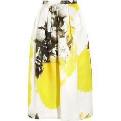 Christopher Kane Printed silk-organza skirt ($1,350) ❤ liked on Polyvore