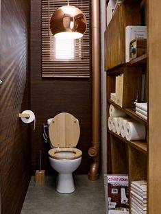 couleur peinture et rangement pour wc et toilette