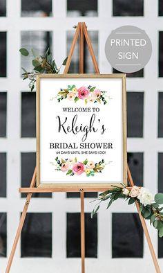Bridal Shower Welcome Sign Large Bridal Shower Welcome Sign