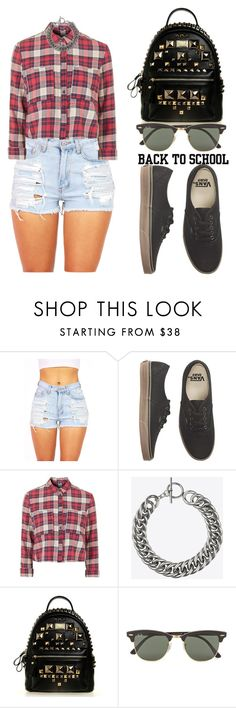 """""""The First Day of School!"""" by tania-alves ❤ liked on Polyvore featuring Vans, Topshop, Yves Saint Laurent, Ray-Ban, women's clothing, women, female, woman, misses and juniors"""