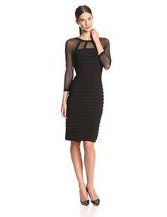 Adrianna Papell Women's Long Sleeve Illusion Raglan Banded Dress, Black, 6 Adrianna Papell http://www.amazon.com/dp/B00NEYXGHI/ref=cm_sw_r_pi_dp_JO-iwb0QQ42DF