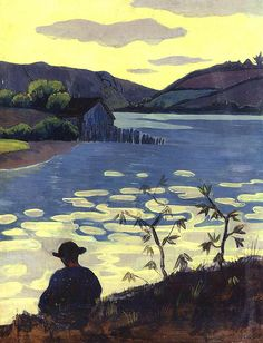 Serusier, Paul le (French, 1864-1927) - Fisherman on the river Laita -1890
