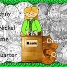 This package contains 4 types United States coins both in color and line art.   Penny, Nickel, Dime, & Quarter. Great for worksheets and games.  $3