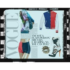 Margot Robbie as 'Harley Quinn' by snow-white-work on Polyvore featuring adidas and Boohoo