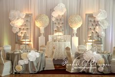 Absolutely Gorgeous individual Head table and Sweetheart Table combination | Rachel A. Clingen Wedding & Event Design