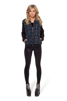 Deathly Hallows BF Bomber by Black Milk Clothing $120AUD