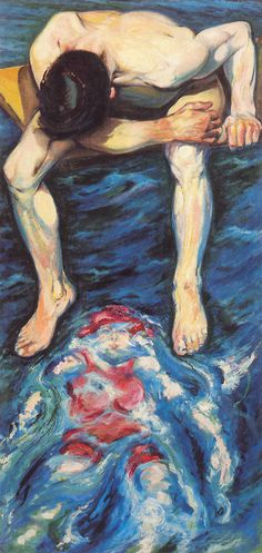 Man on a Diving Board - Aksel Waldemar Johannessen Face The Music, Diving Board, Painted Boards, Present Day, Art Pictures, Art Pics, Figurative Art, Amazing Art, Oil On Canvas