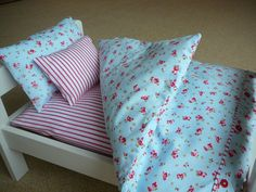 Bedding for an IKEA Duktig doll bed by HeartandButton on Etsy