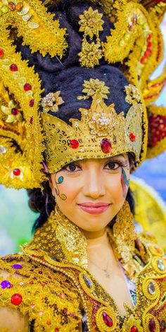 Indonesian woman ~ in traditional headdress