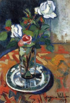 Suzanne Valadon:  Roses in a Vase (1914)