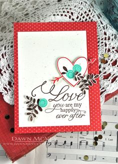 My Happily Ever After Card by Dawn McVey for Papertrey Ink (December 2013)
