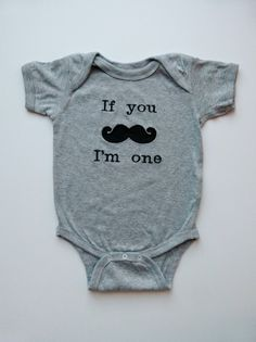1st Birthday Boy Mustache Baby Gray Onesie For Your Little Man Who Is One Years Old