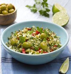 Salade de quinoa aux olives vertes comme un taboulé - Summer green salad Recipe