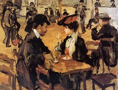 Cafe dansant, Moulin de la Galette by Dutch Painter Isaac Israels 1865-1944