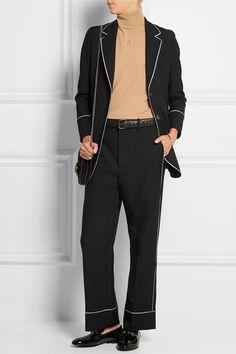 Gucci | Silk-trimmed wool-twill blazer | NET-A-PORTER.COM