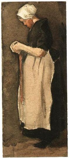 Vincent Van Gogh Scheveningen woman standing