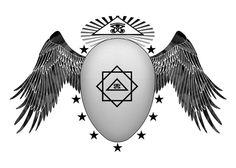 Pôster Kneph - Simbologia: Kneph é o Ovo alado, a Omniforma, o Zero (0º) da qual toda a manifestação positiva se origina.  O deus Kneph egípcio, é o emblema da Mente Divina e a alma universal de Platão.  Este símbolo, Kneph, era originalmente chamado de a respiração da vida, conhecido também como alma-respiração, era idêntico ao deus grego Pneuma, esta palavra tem o mesmo significado de...
