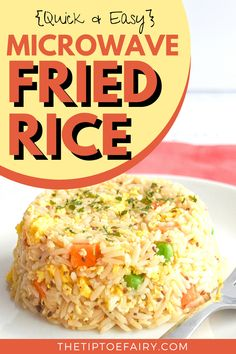 Come see how to easily make Microwave Fried Rice from scratch in about five minutes for a delicious recipe for one! Easy Microwave Recipes, Rice In The Microwave, Microwave Dishes, Microwave Cooking Recipe, Microwave Oven, Mug Recipes, Cooking Recipes, Drink Recipes, Delicious Recipes