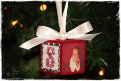 Baby's First Christmas Ornament by nikkitannerdesigns on Etsy, $20.00