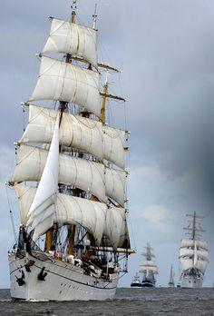 Sail boat, sail away.