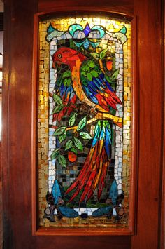 Stained glass on the Peacemaker