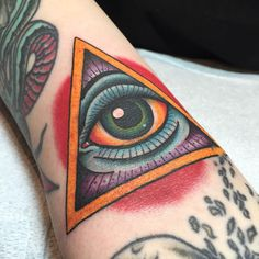 All seeing eye in the ditch on Tony. (at Port City Tattoo Costa Mesa)