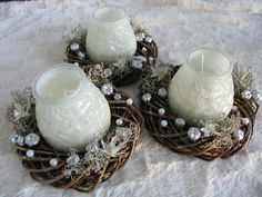 Decorated traditional candels