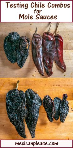 I'm back on the Mole Train this week and testing out some dried chile combos! In particular, the Holy Trinity combo of Anchos, Mulatos, and Pasillas is a revelation for me and I'm super excited to build some Mole out of it. For reference, Mulatos are similar to Anchos but they ripen to a dark brown before being picked. This additional time on the vine gives them a big, bold flavor with hints of licorice and tobacco. And to my palate they don't have the fruity undertones that Anchos have.